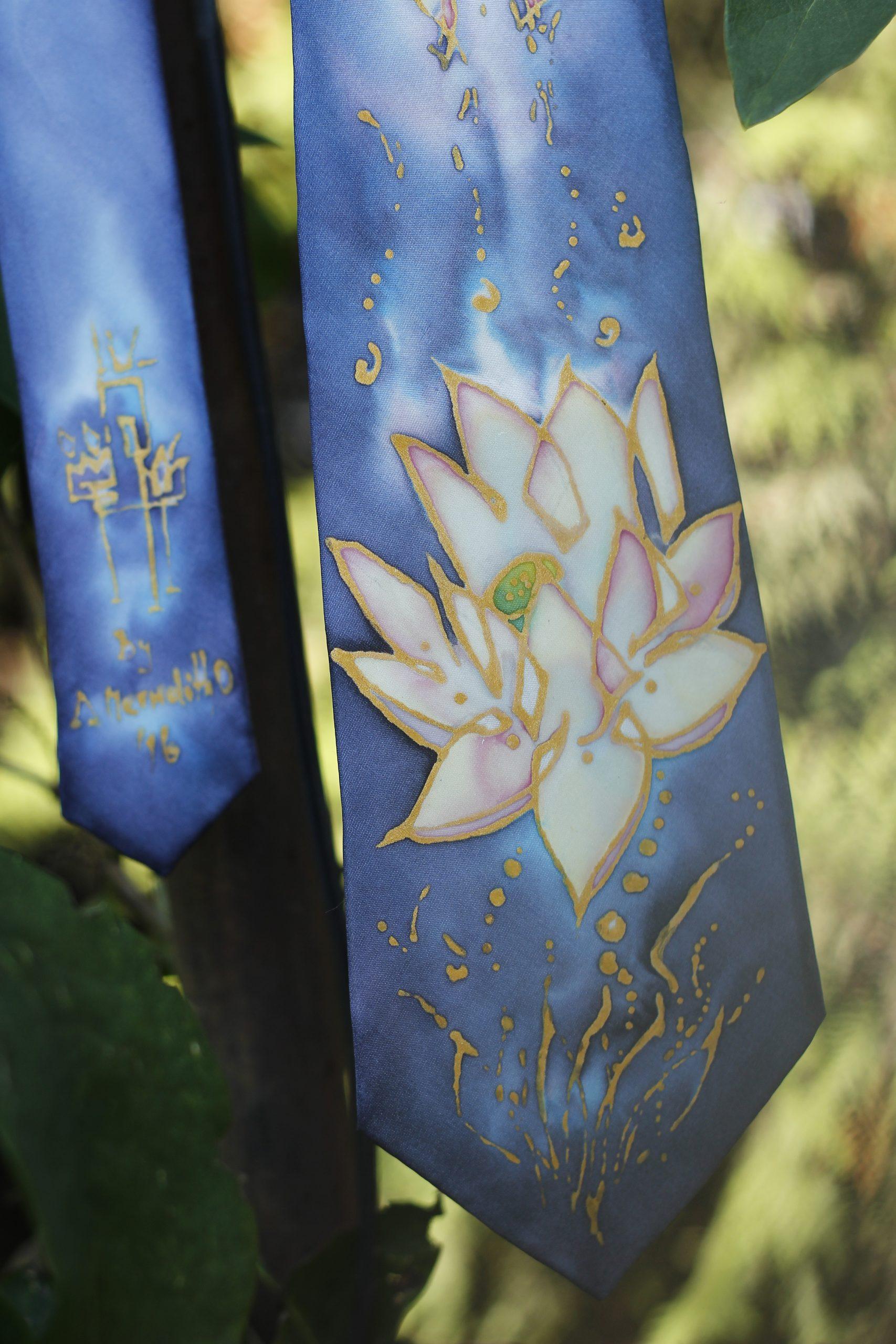 Ručne maľovaná hodvábna kravata