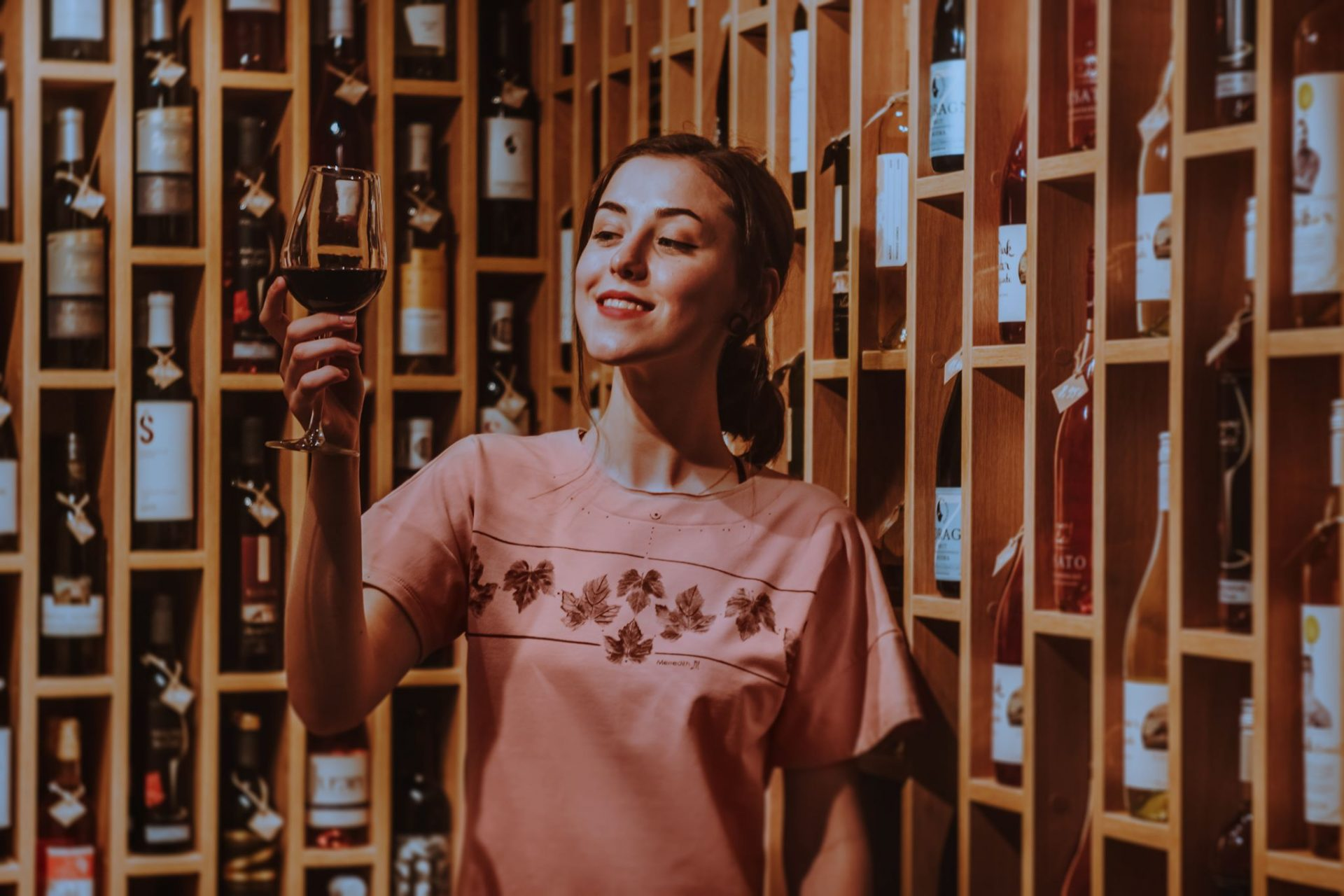 Ružové dámske tričko In Vino
